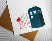 Valentine - Hello, Sweetie - A2 Doctor Who card - River Song