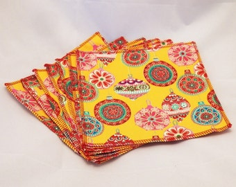 Cloth Wipes- Ornaments- Set of 7- 15043