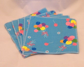 Cloth Wipes- Balloons- Set of 5- 15004