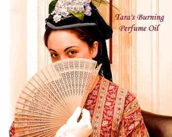 TARA'S BURNING Perfume Oil - Sweet Peaches, Magnolia Blossoms, Vines, Smoky Sweet Copal - Artisan Perfume