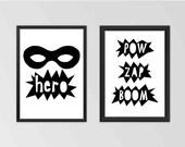 Super Hero Set Printable Set Wall Art