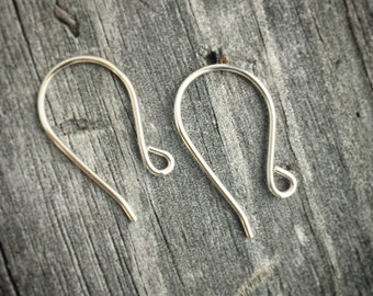 Sterling Silver Ear Wires Handmade Sterling Silver Jewelry Supply Jewelry Findings USA