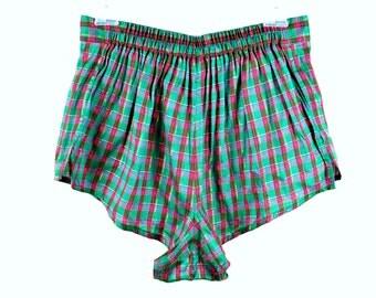 90's Plaid Boxer Shorts size - M