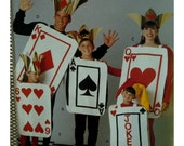 Playing Cards Costume Pattern, Kings, Queen, Ace. Six, Joker Cards, ties, Hats, Butterick No. 5738 UNCUT Child Size 2 3 4 5 6 7 8 10 12 14