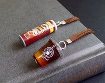 Miniature food Bookmark - Beverage Coffee Potato chips Cute Kawaii Jewelry Reader Book Accessory gift (see Item Details)