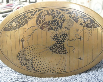 Beautiful brass Art Deco Box