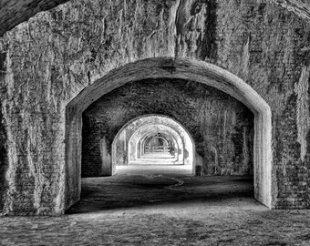 Fort Pickens Arches Near Pensacola Florida - Fine Art Photograph