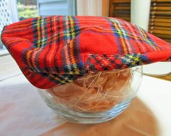 Royal Stewart tartan flat driving cap