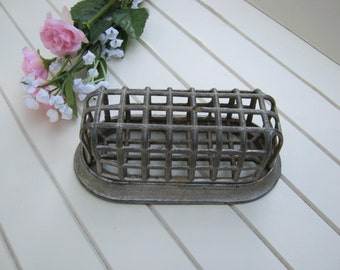 Metal Cage Flower Frog - Oval Rustic Dome - Oak Hill Vintage