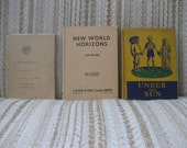 A Trio of Geography Text and Story Books - Under the Sun, New World Horizons and Far Away People