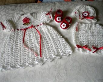 Snow White 4 Piece Dress Set in 3 to 6 Months