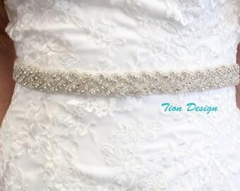 Crystal Bridal Sash | Rhinestone Sash | Wedding Sash SB-01