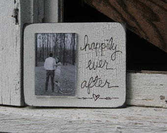 Happily Ever Aftter Reclaimed Wood Frame