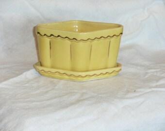 Vintage Yellow Diamond Planter