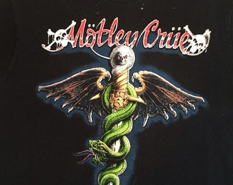 80's Motley Crue Iconic Classic Authentic Dr. Feelgood Vintage Concert T Shirt