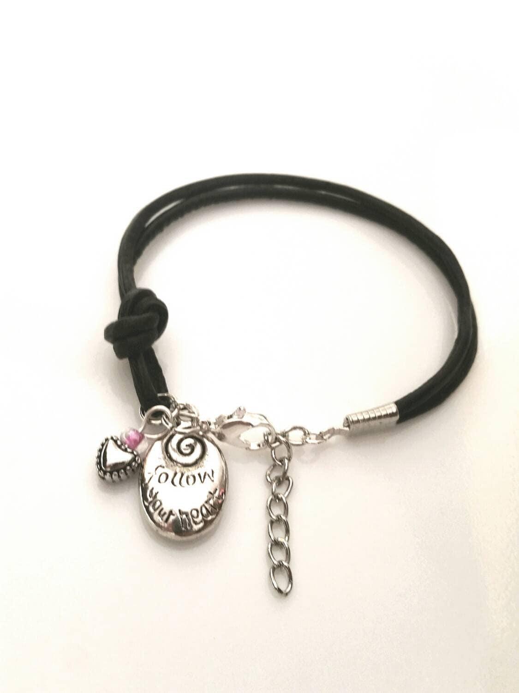 Leather Bracelet Inspirational Jewelry Inspiration Charm