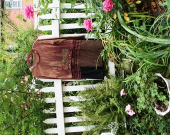 Beautiful Amour Top / Tunic / Dress / Eco / Medium/ Rustic / Upcycled / Boho / Country living / Cottage Chic