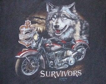 Vintage Harley Davidson Motorcycle 3D Emblem Limited Edition 1990 Myrtle Beach Bike Rally biker trucker T shirt L