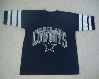 Vintage NFL 90's Dallas Cowboys jersey ringer style 1994 T SHIRT XL