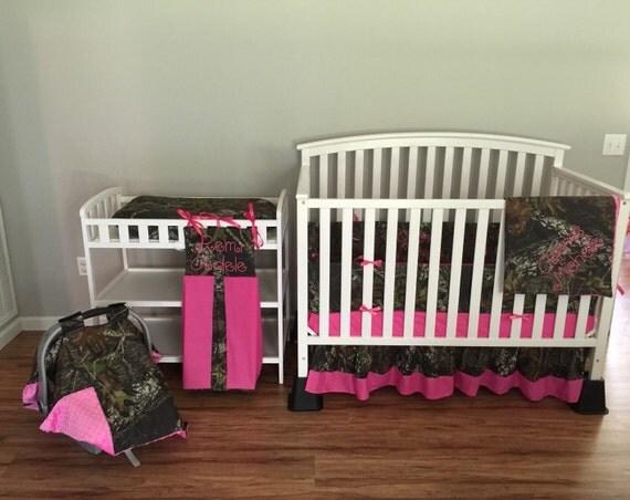 7pc Camo Mossy Oak Fabric Pink Crib Bedding Nursery Set: Items Similar To I WANT IT ALL Nursery Package Camo Mossy