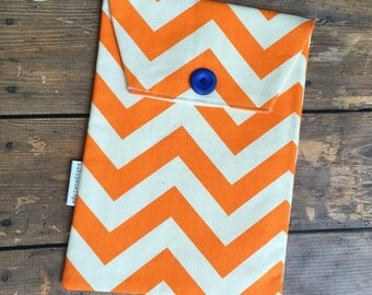 Diaper and Wipes Case Holder - Orange Chevron - Ready to ship