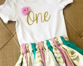 Birthday tutu Onesie outfit
