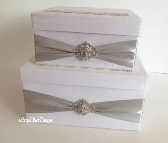 Unique Wedding Gift Cards : Wedding Card Box, Bling Card Box Unique Wedding Gift Box - Custom Made