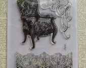 Stampendous- Chair- Lace- Flourish - Cling Stamp (set of 3)