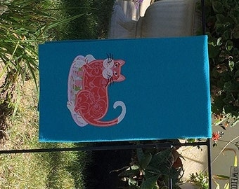 Kitchen Towel - Orange Cat
