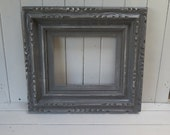 Chunky Shabby Chic Grey Picture Frame Distressed Rustic Cottage Beach Frame for picture gallery wall