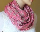 Scarf Beautiful Sari Scarf Versatile Upcycled VINTAGE Sari - floral pink green - autumn winter accessories