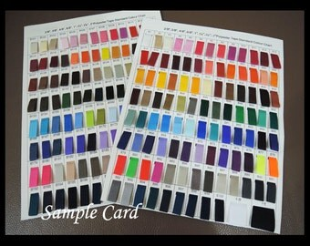 Sample Card - Polyester Tape Tape Standard Color Chart 200 Colour Sample Cards
