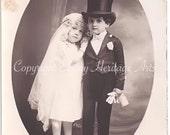 Tom Thumb Wedding Kids, vintage photo instant download