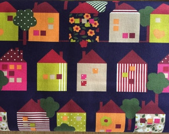 Houses - Rico cotton -  Quilting weight cotton fabric - sold by the half metre