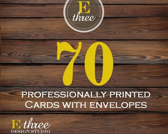 Printing - 70 Prints - Printing for any of our card designs - Cardstock and Envelopes