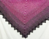 Berry gradient shawl  hand dyed in Idaho