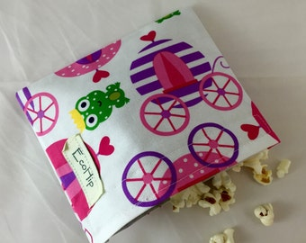 Reusable Snack Bag - Princess Life Carriage in Spring