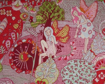 Magical Everyday Eden Fairy Print Pure Cotton Fabric--One Yard