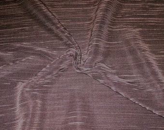 SPECIAL--Chocolate Brown Finely Pleated Polyester Charmeuse Fabric--One Yard