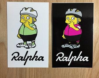 RALPHA parody cycling 2-piece sticker set