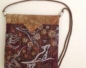 """Australian Kangaroos Quilted Fabric Snap Bag Purse Handbag 8"""" x 8-1/2"""""""