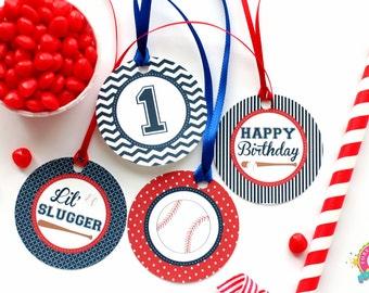 Baseball Cupcake Toppers / Baseball Favor Tags / Baseball Party Favors / Baseball Party / Baseball Birthday / Baseball Printables