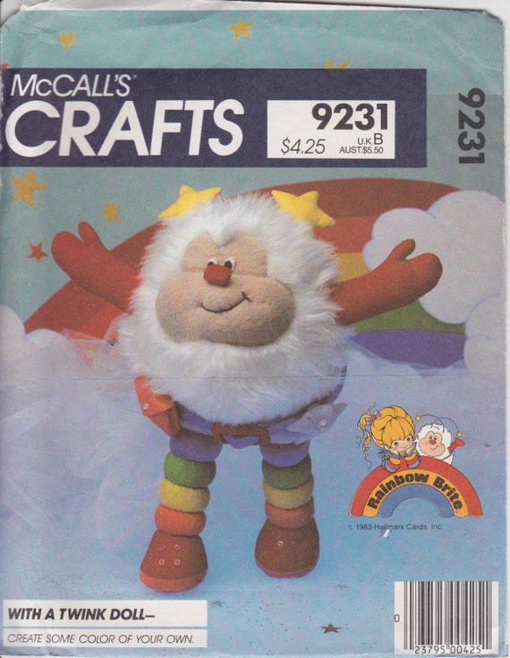 1980s Rainbow Brite Twink doll pattern McCall's Crafts 9231