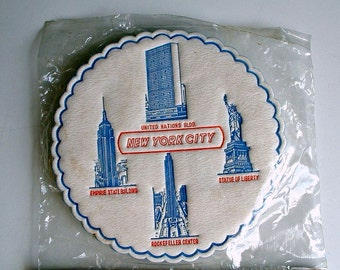 16 Coasters New York City Vintage Drink Coasters 2 Packages New Old Stock Party Guest Supply Mid Century MIJ