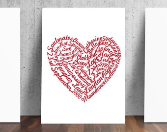 Personalized Word Cloud Print - Your words into art