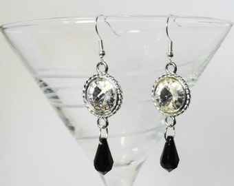 Crystal Rivoli Dangle Earrings