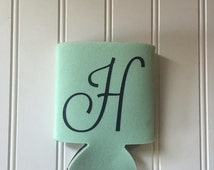 Monogram gift, can, personalized gift, drink holder, beer holder, can cooler, custom coozie, bridesmaid gift, coozies,cozy,birthday