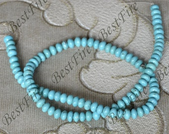 15inch Single blue abacus turquoise nugget gemstone bead,Turquoise nugget jewelry Gemstone Bead loose strands,turquoise findings beads