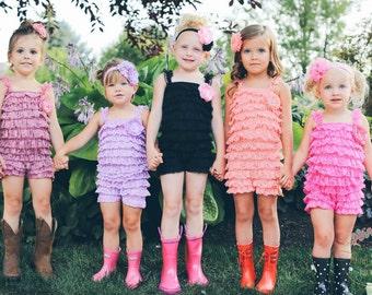 Petti lace romper,petti romper,lace romper, baby romper,girls lace romper,Baby girl outfit,Smash cake outfit,1st birthday, newborn romper.