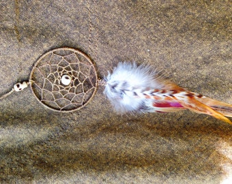 Dream Catcher Feather Earring